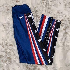 GOLDSHEEP patriotic inspired leggings